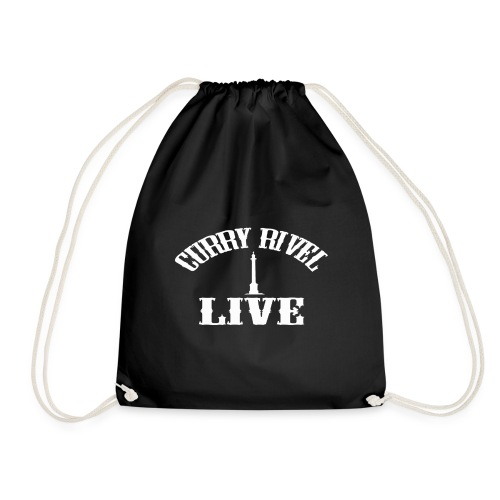 CURRY RIVEL LIVE LOGO WHITE - Drawstring Bag