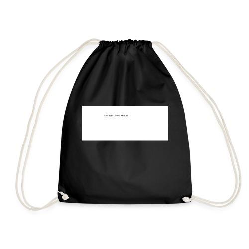 eat sleep sing - Drawstring Bag