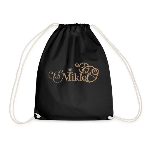 miklof logo gold outlined 3000px - Drawstring Bag