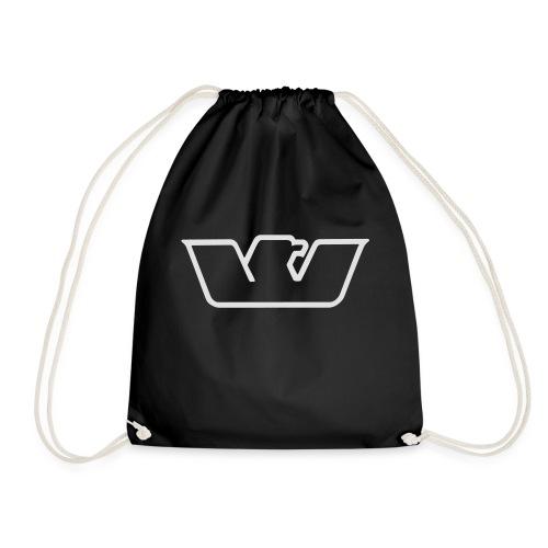 logo white bird Westone - Drawstring Bag