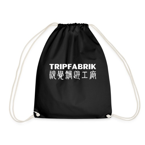 tripfabrik label white big png - Drawstring Bag