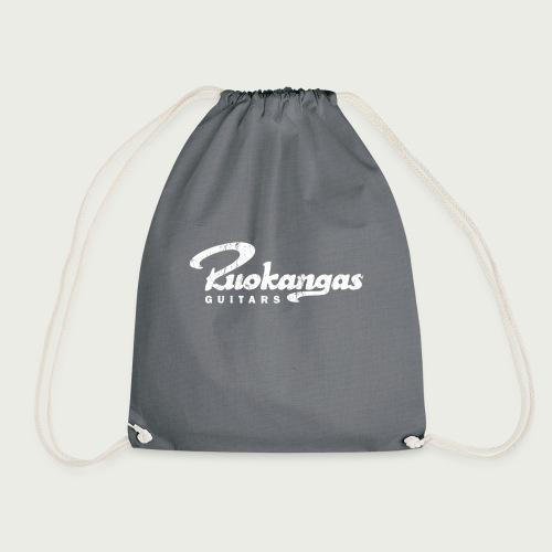 RuokangasGuitars white - Drawstring Bag