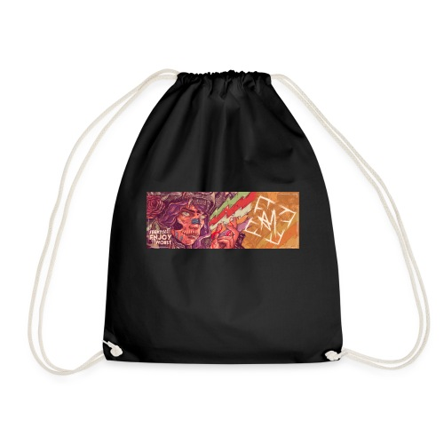 Across Yourself - Cover tight - Drawstring Bag