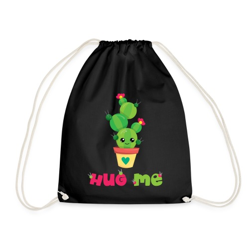 HUG ME - Kakteen Comic Kaktus Geschenk Shirts - Turnbeutel
