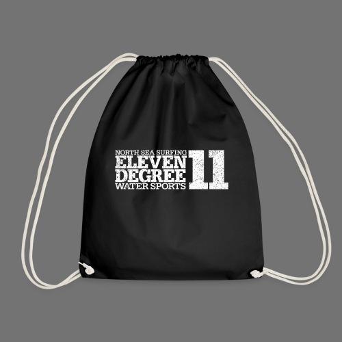 eleven degree white (oldstyle) - Drawstring Bag