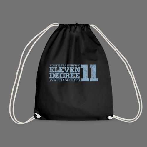 eleven degree light blue (oldstyle) - Drawstring Bag