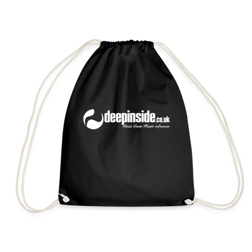 DEEPINSIDE World Reference logo white - Drawstring Bag