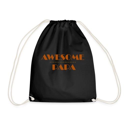 awesome papa 1 - Drawstring Bag