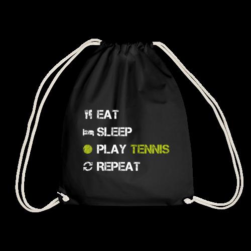 Eat Sleep Play Tennis Repeat Sport Vintage - Turnbeutel