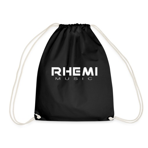 Classic Rhemi logo White - Drawstring Bag