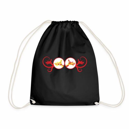 Red Unicorn Dragon - Drawstring Bag