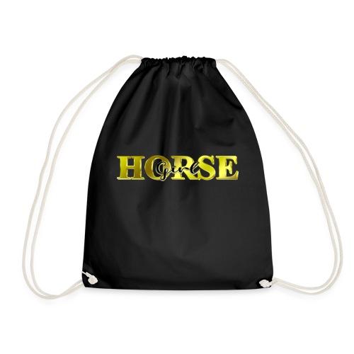 Horsegirl Reiten Pferde Geschenk - Turnbeutel