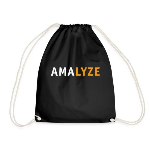 AMALYZE LOGO - Weiß / Orange - Turnbeutel