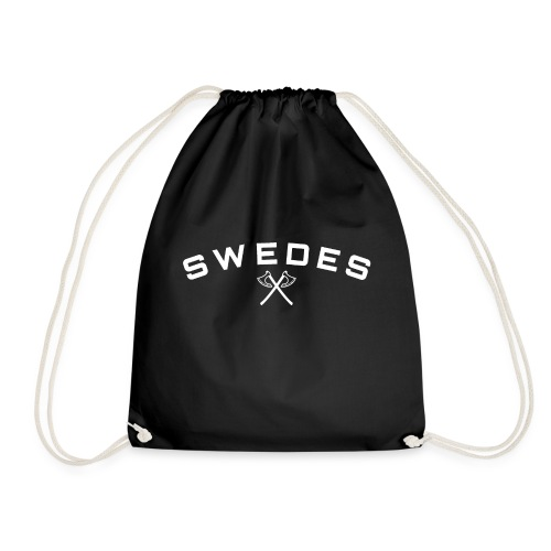 swedes, white print - Gymnastikpåse