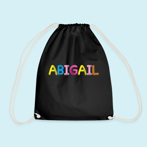 Fluffy Abigail Letter Name - Drawstring Bag