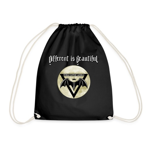 Different is Beautiful with Moon WGM Logo - Drawstring Bag