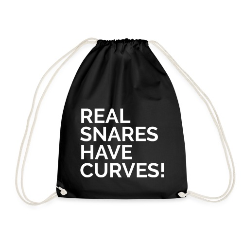Real Snares Have Curves - Drawstring Bag