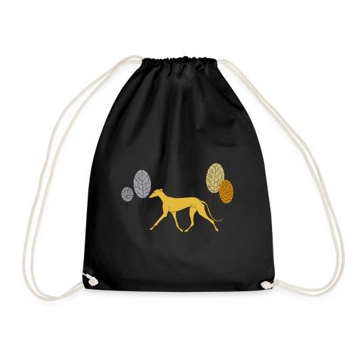 Gelber Windhund - Turnbeutel
