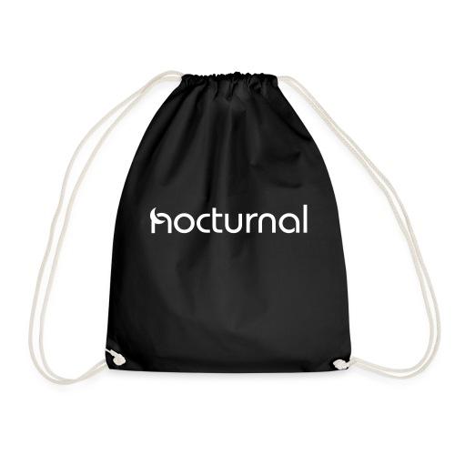 Nocturnal White - Drawstring Bag