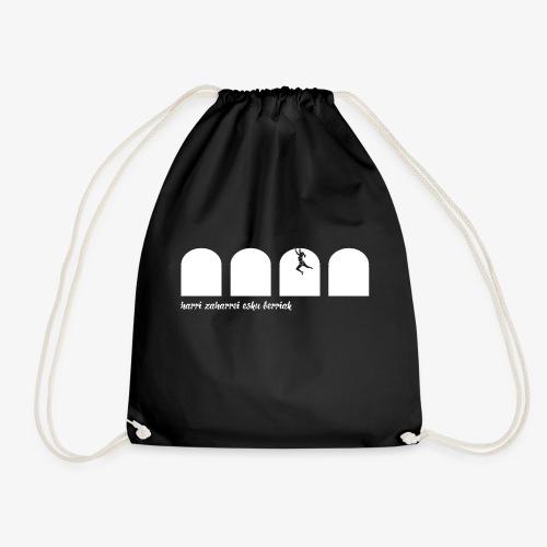 Harri zaharrei esku berriak - Drawstring Bag