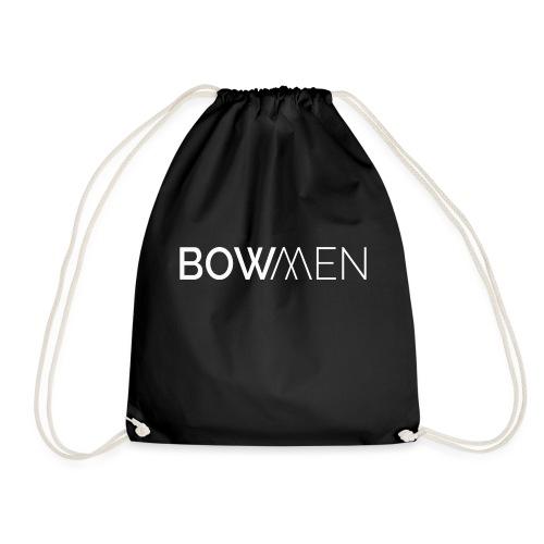 Bowmen Logo Trans weiss - Turnbeutel