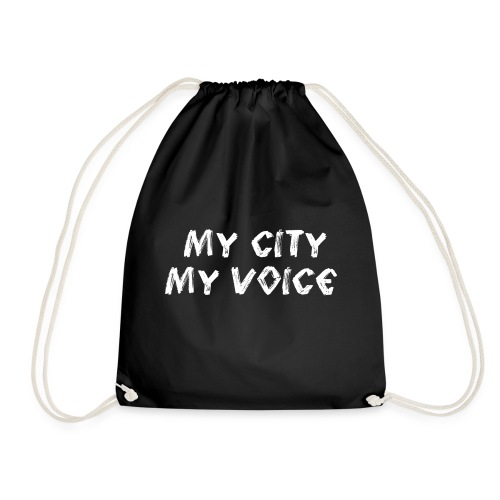 My City My Voice 1 white - Drawstring Bag
