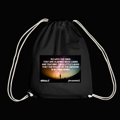 Claiming Back Lands! Truth T-Shirts!! #Art #Love - Drawstring Bag