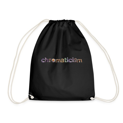 chromaticism logo tee - long (f) - Drawstring Bag