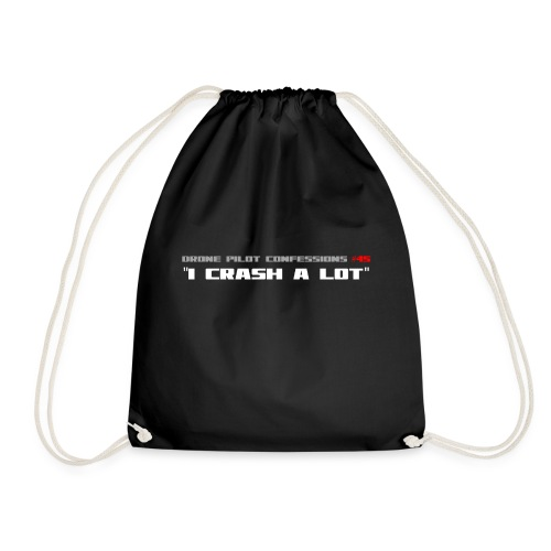 I CRASH A LOT - Drawstring Bag