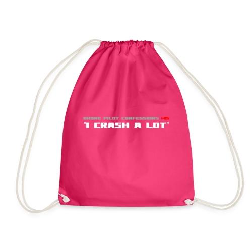I CRASH A LOT - Drawstring Bag