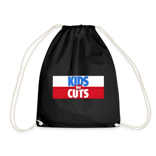 Red For Ed Ontario Cuts Hurt Kids Logo - Drawstring Bag