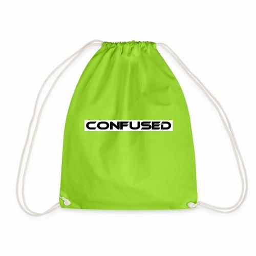 CONFUSED Design, Verwirrt, cool, schlicht - Turnbeutel