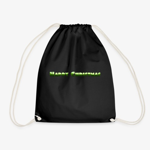 happy christmas - Drawstring Bag