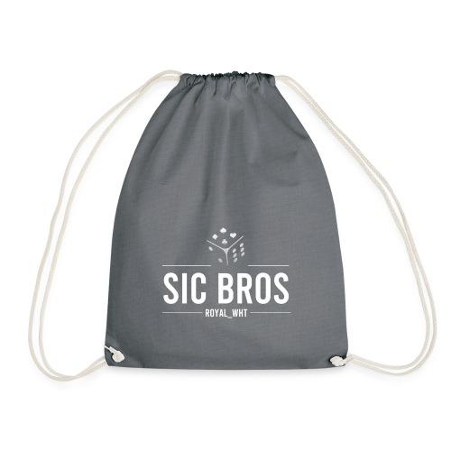 sicbros1 royal wht - Drawstring Bag