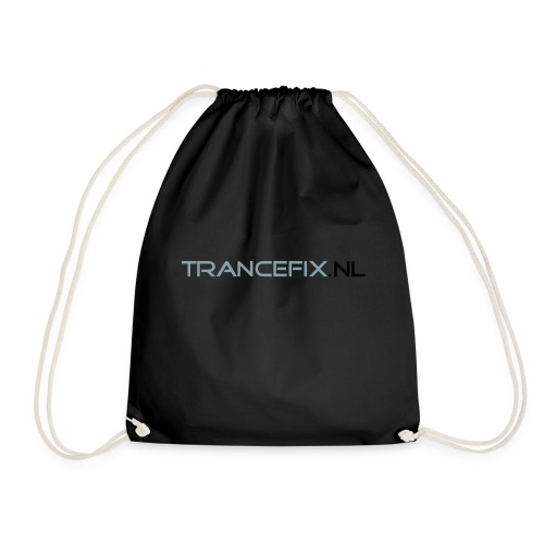 trancefix text - Drawstring Bag