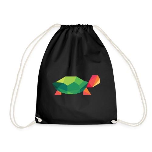 Geometric Turtle - Drawstring Bag