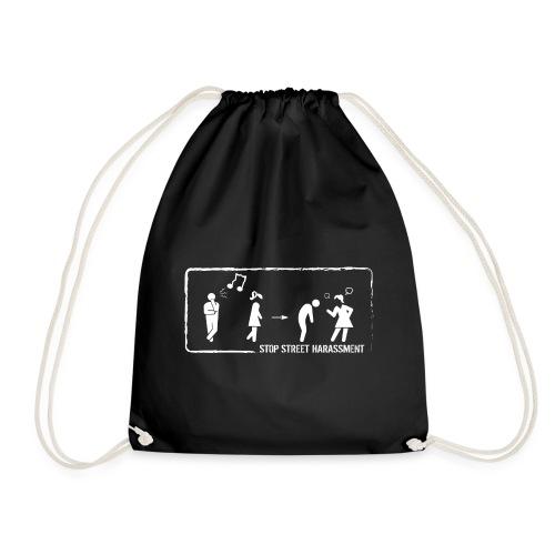 Stop street harassment: whistling - Drawstring Bag