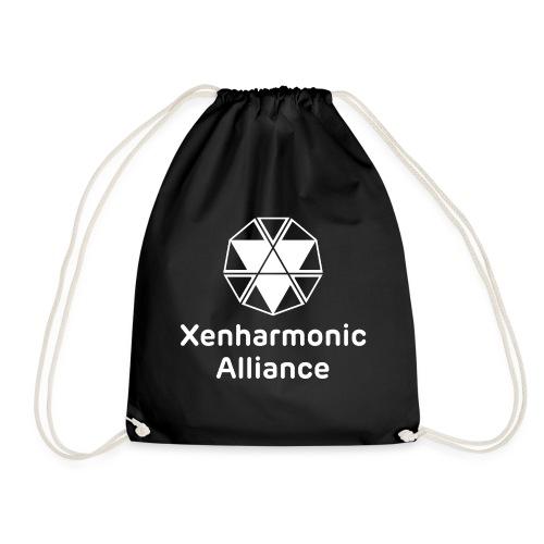 Xenharmonic Aliiance White - Drawstring Bag