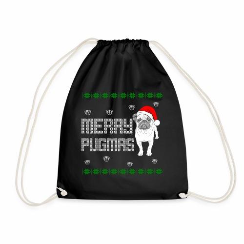 Merry Pugmas - Turnbeutel