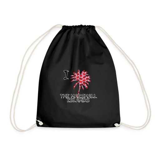 I Love The Marshall Islands - Drawstring Bag