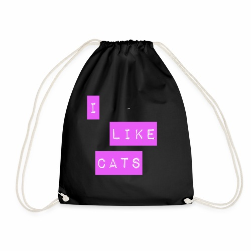 I like cats - Drawstring Bag