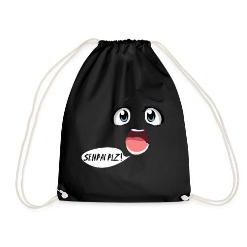 Senpai plzz! Anime face :O - Drawstring Bag