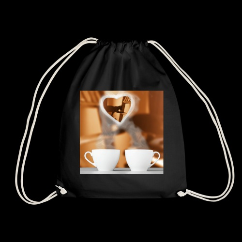 sticallbats coffee for two - Drawstring Bag