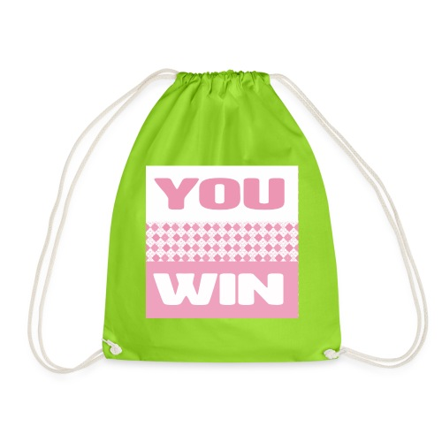 you win 25 - Drawstring Bag