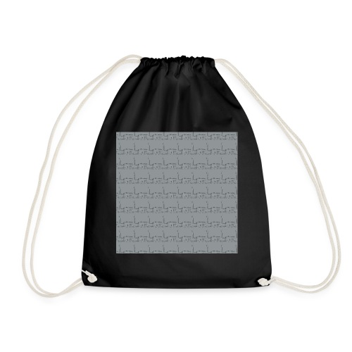 helsinki railway station pattern gray - Drawstring Bag