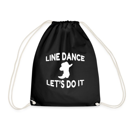 "Cooles Line Dance Motto Shirt ""Let s do it"" - Turnbeutel"