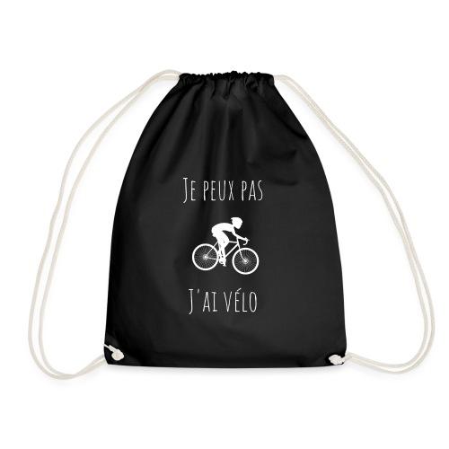 t shirt cyclisme je peux pas j'ai vélo dessin - Sac de sport léger
