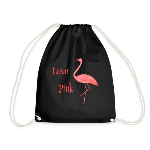 Flamingo - Love Pink - Turnbeutel