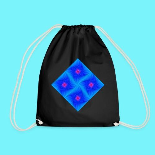 Curves of pursuit design 2 - Drawstring Bag