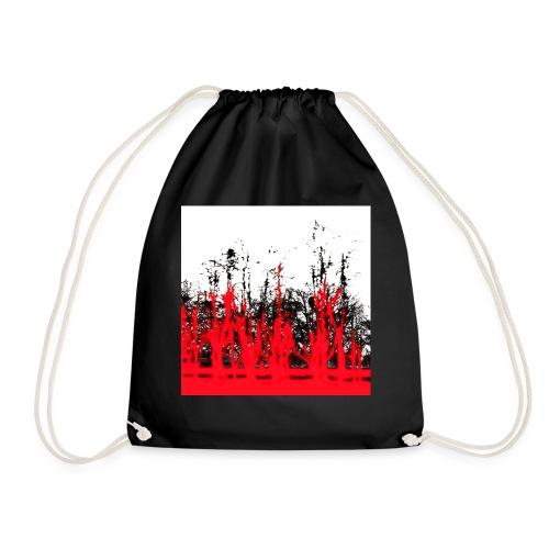 rot - schwarz - Turnbeutel